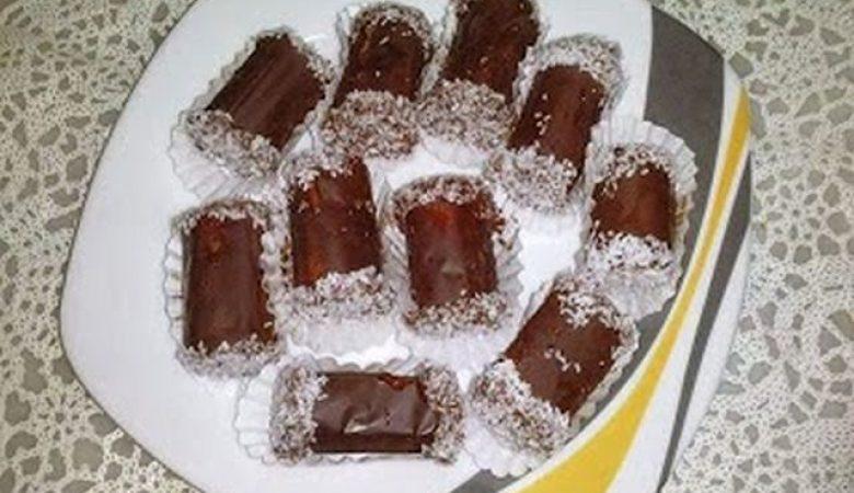 حلوى جوز الهند بدون طهي
