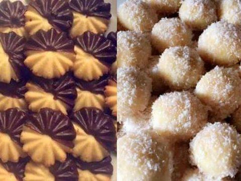 حلوى بشكلين من عجينة واحدة