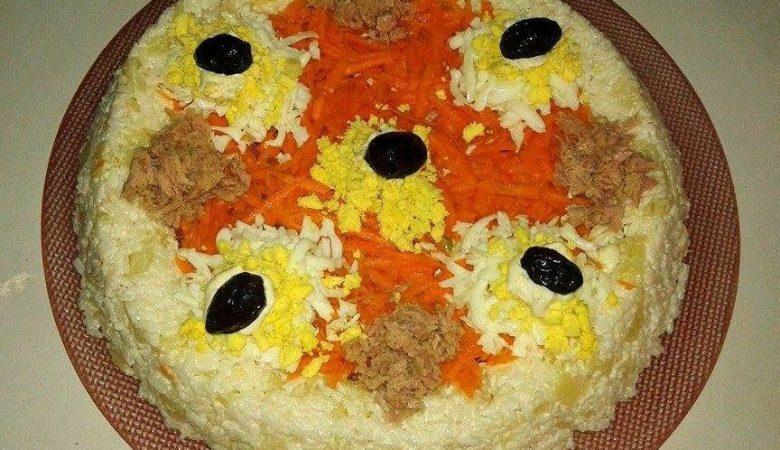 سلطة بالأرز والخضر