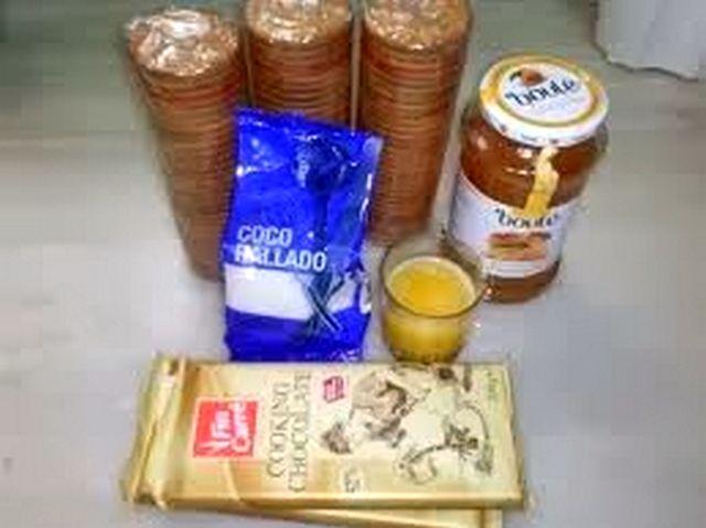مكونات حلوى جوز الهند بدون طهي
