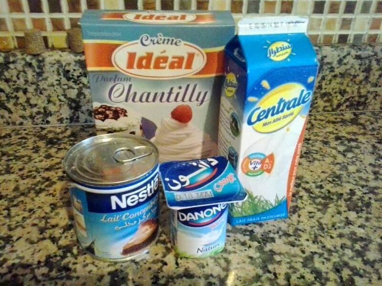 مكونات مثلجات بحليب نستله بطبقتين