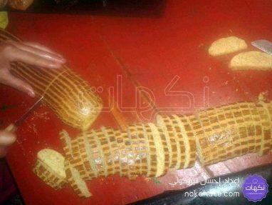 تقطيع قضبان الحلوى إلى قطع
