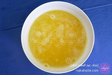 عصير البرتقال المحصل عليه بعد التصفية