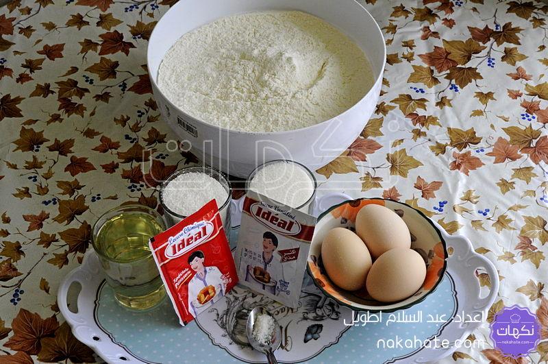 مكونات حلوى الفقاص بجوز الهند